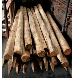 Deboscat Ontschorste kastanjepalen, L: 200cm, D: 8-10cm