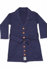 Buttoned Dress Navy