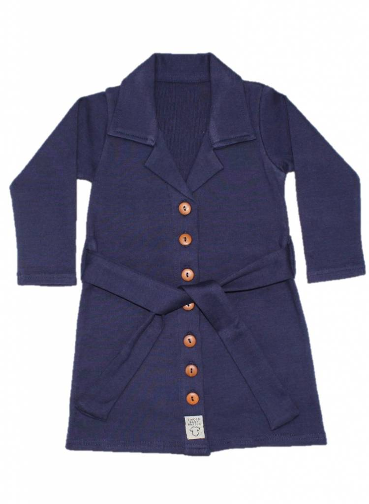 Buttoned Kleid - Navy
