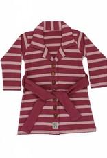 Buttoned Kleid Blush Streifen