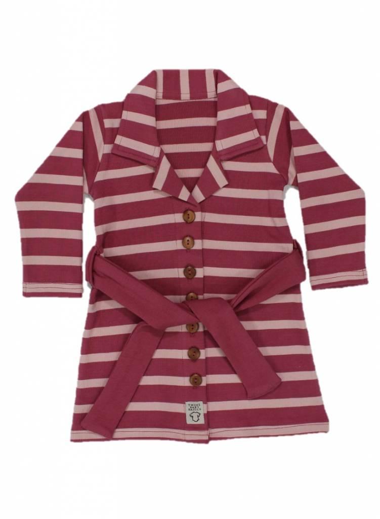 Buttoned Dress Stripe Blush