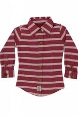 Shirt Buttoned Long Sleeve Stripe Blush