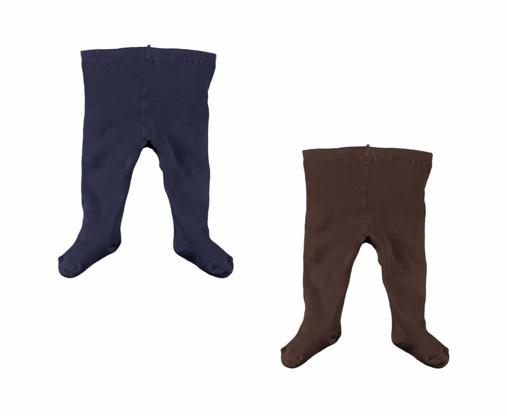 Stockings Set - Navy/Chocolate