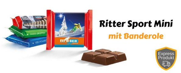 Ritter Sport Mini Schokolade mit Papierbanderole