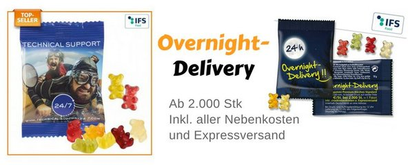 Overnight Delivery Express Gummibärchen