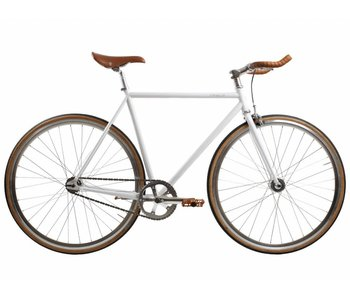 BLB Track Fixie Commuter - White/Silver/Brown