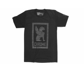 Chrome Industries Large Lock Up Tee Black/Black Graphic