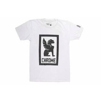 Chrome Industries Large Lock Up Tee White/Black Graphic