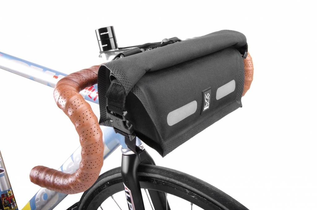 Chrome Industries Knurled Handlebar Bag Black