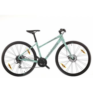 Bianchi C-Sport Dama 1 Alu - Acera 24sp Disc Brake 32mm Tire - Celeste
