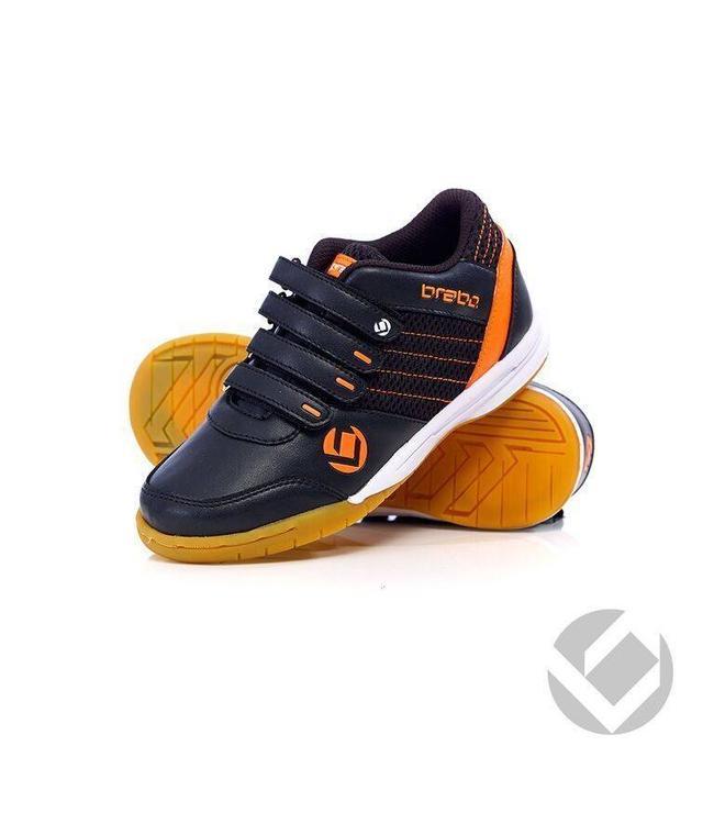 Brabo Indoor Shoe Velcro Black/Orange Brabo (1516)