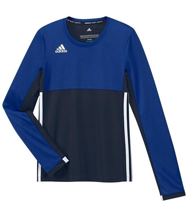 Adidas T16 Long Sleeve Shirt Girls Navy