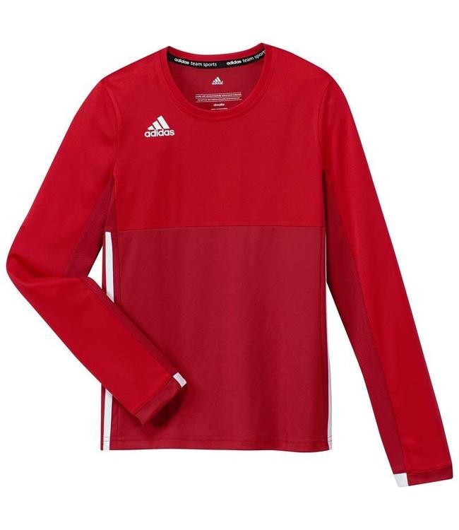 8cac45a148bbc0 Adidas T16 Long Sleeve Shirt Mädchen Rot - Hockeypoint