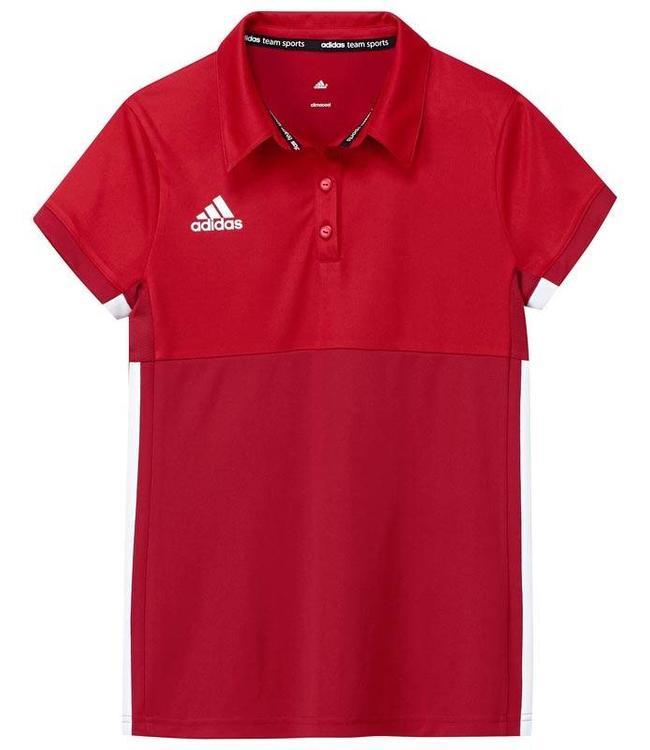 Adidas T16 Polo Jungen Rot