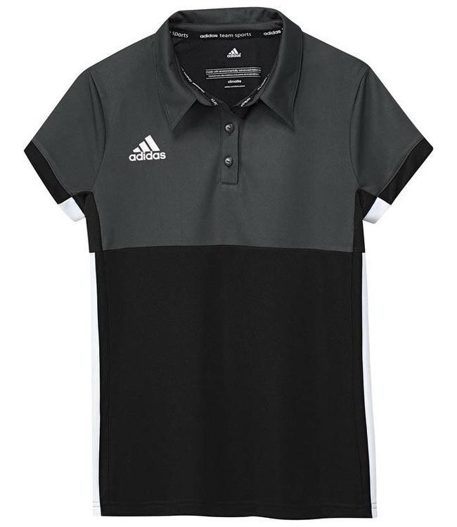 Adidas T16 Polo Jungen Schwarz