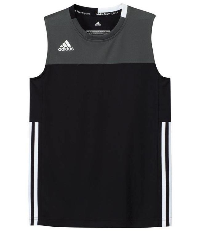 Adidas T16 Singlet Jungen Schwarz