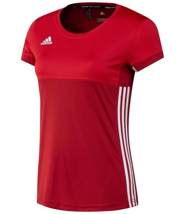 Adidas T16 'Oncourt' short sleeve shirt Dames Rood