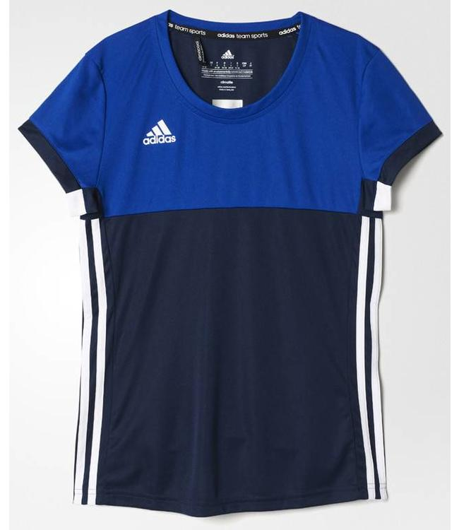 Adidas T16 'Oncourt' short sleeve shirt Dames Navy