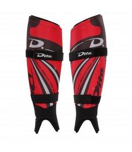 Dita Ortho Plus Red Shinguard Dita hockey scheenbeschermer