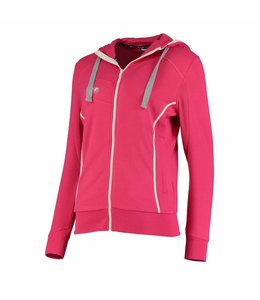 Reece Kate Hooded Zip Sweat Pink/Weiß