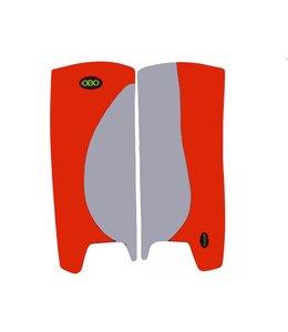 Obo Robo Hi-Rebound Legguards Grau/Rot