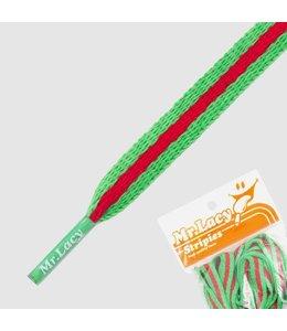 Mr. lacy Stripies Kelly Grün / Rot