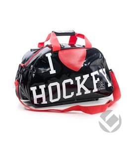 Brabo Shoulderbag I Heart Hockey Schwarz/Rot