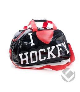 Brabo Shoulderbag I Heart Hockey Zwart/Rood