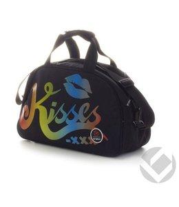 Brabo Shoulderbag Kisses Rainbow Schwarz