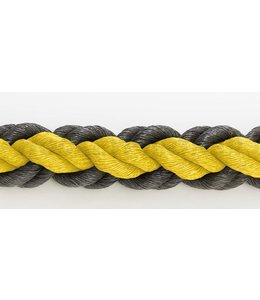 Hockeytouw Geel/zwart 8mm ( prijs inkl btw)