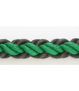 Hockeytouw Groen/zwart 8mm ( prijs inkl btw)
