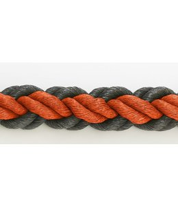 Hockeytouw Oranje/zwart 8cm ( prijs inkl btw)