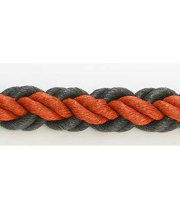 Hockeytouw Oranje/zwart 8mm ( prijs inkl btw)