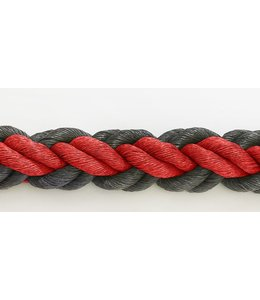 Hockeyseil Rot/Schwarz 8mm ( Preis inkl. MWST )