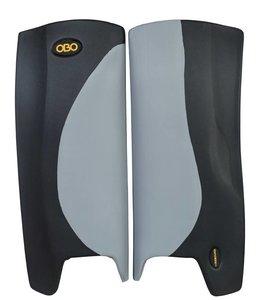 Obo Robo Hi-Rebound Legguards Grau/Schwarz