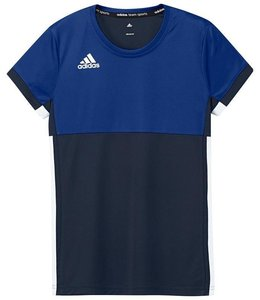 Adidas T16 'Oncourt' short sleeve shirt Girls navy