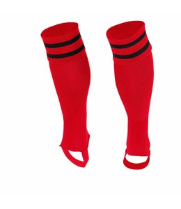 Stanno Sok zonder voet ( Ring footless sock ) Rood/Zwart