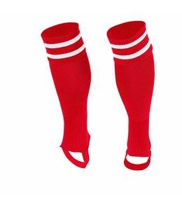 Stanno Socken ohne Fuss Rot/Weiss