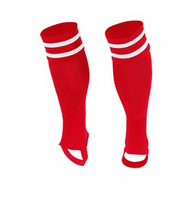 Stanno Sok zonder voet ( Ring footless sock ) Rood/Wit