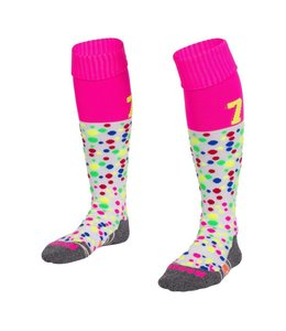 Reece Numbaa Special Sokken Wit/Neon Roze