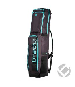 Brabo Stickbag Traditional Schwarz/Aqua