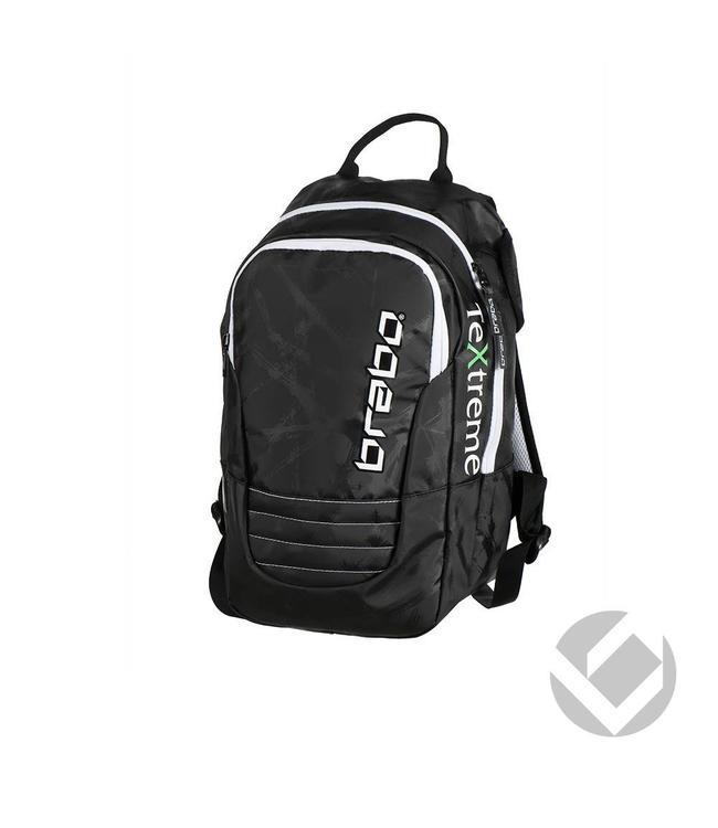 Brabo Backpack Senior TeXtreme Schwarz/Weiß