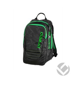 Brabo Backpack Junior TeXtreme Schwarz/Lime