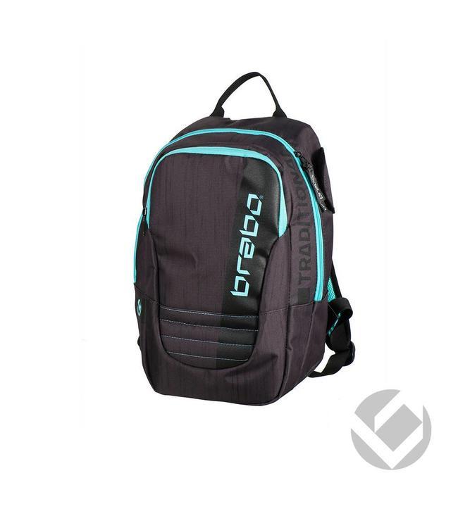 Brabo Backpack Junior Traditional Schwarz/Aqua