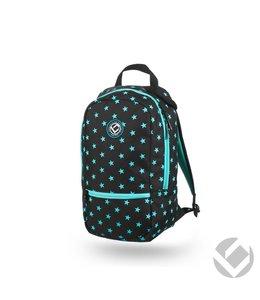 Brabo Backpack Junior Camp Stars Zwart/Aqua
