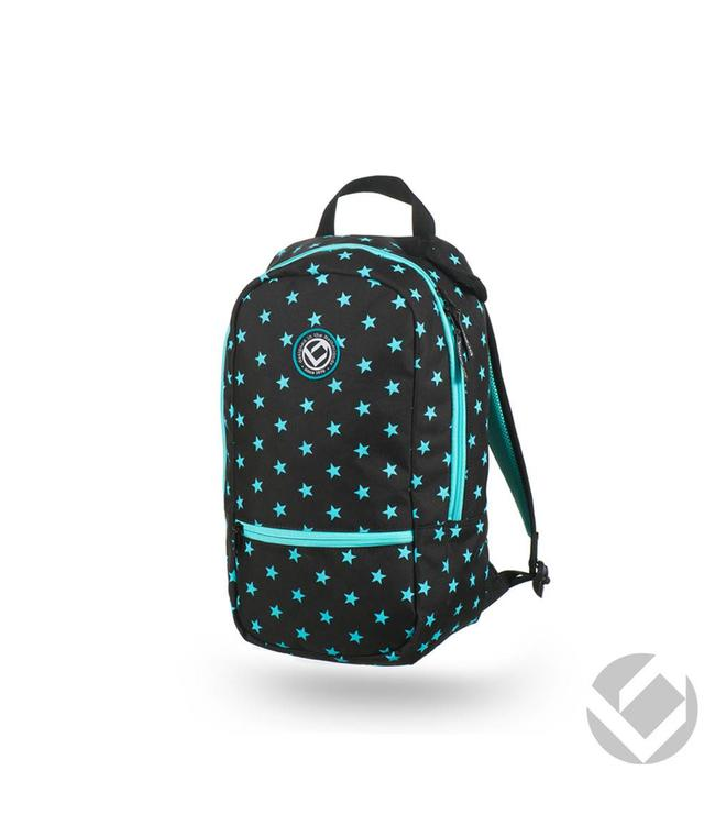 Brabo Backpack Junior Camp Stars Schwarz/Aqua