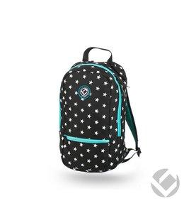 Brabo Backpack Junior Camp Stars Schwarz/Weiß