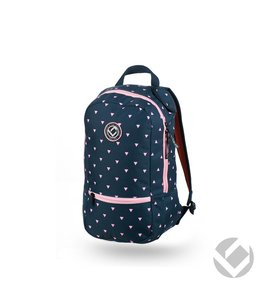 Brabo Backpack Junior Triangles Navy/Roze