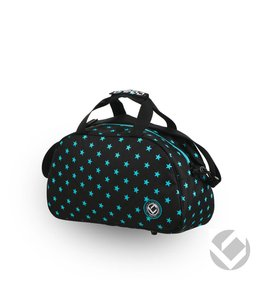 Brabo Shoulderbag Camp Stars Schwarz/Aqua