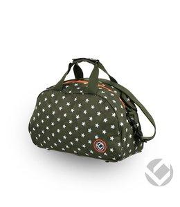 Brabo Shoulderbag Camp Stars Groen/Wit